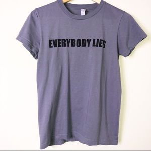 "House ""Everybody Lies"" Gray T-Shirt M/S"